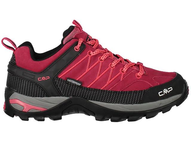 CMP Campagnolo Rigel WP Chaussures de trekking basses Femme, granita/corallo